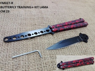 COLTELLO BUTTERFLY TRAINING IN ACCIAIO