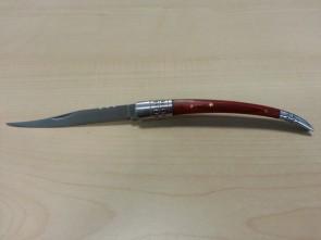 coltello stiletto modello spagnolo misura grande in acciaio e legno d' acero