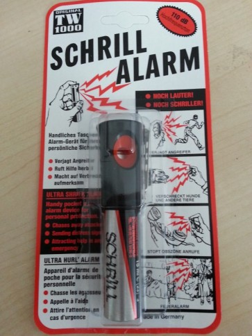 Schrill alarm