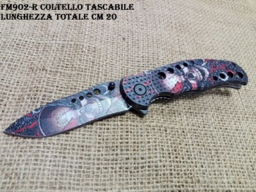 COLTELLO SERRAMANICO THE SKULL IN ACCIAO