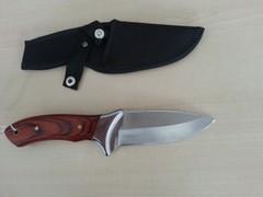 coltello lama fissa in acciaio