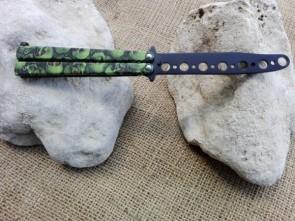 coltello butterfly TRAINER da allenamento colore verde
