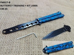 COLTELLO BUTTERFLY TRAINING IN ACCIAIO AISI 420
